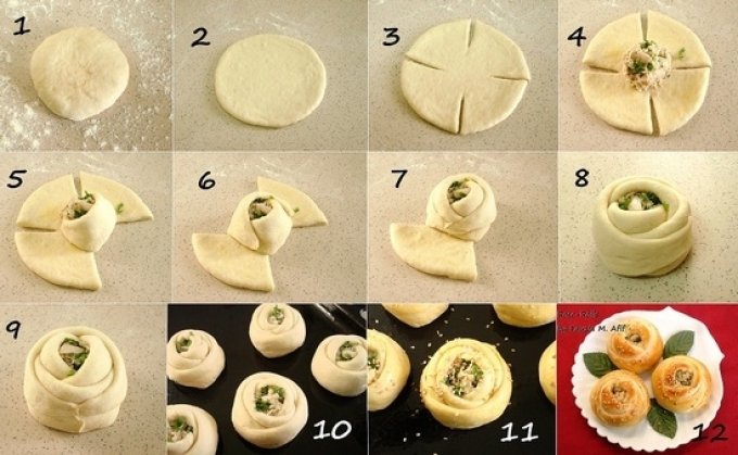 Красивая форма для пирожков в духовке: пошаговая инструкция лепки