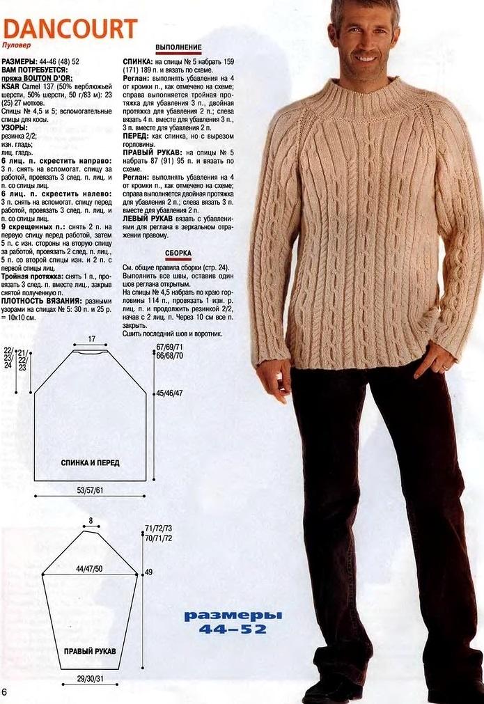 हार्नेस के एक पैटर्न के साथ पुरुष स्वेटर