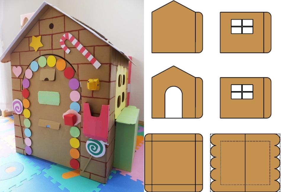 A babák egyetlen emeletes házának részletei