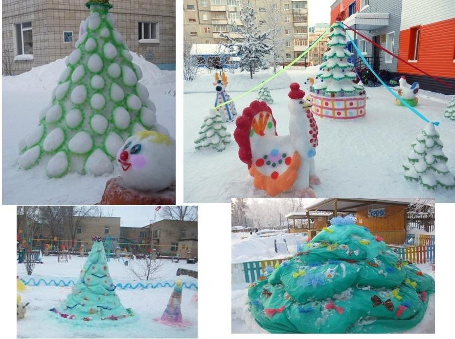照片从雪摆动的圣诞树的照片拼贴画