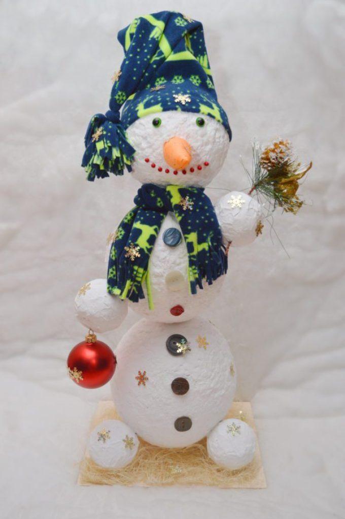 مثل هذا الرجل الثلجي يمكن أن تتحول من الورق