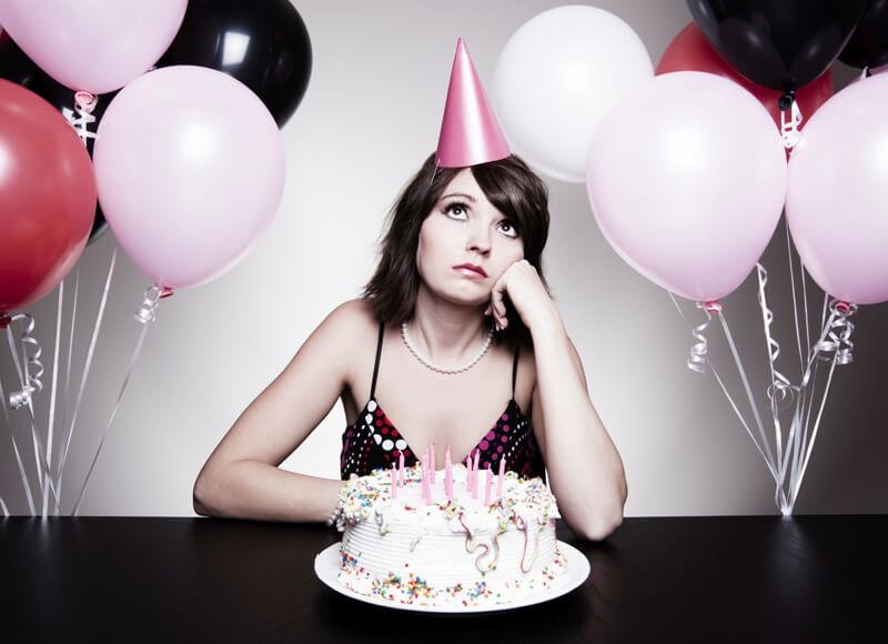 Se você celebrar anteriormente, você pode estar deprimido no seu aniversário