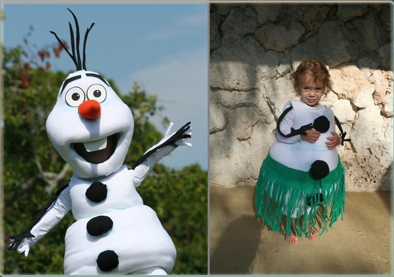 Такой костюм снеговика подходит и для мальчика, и для девочки