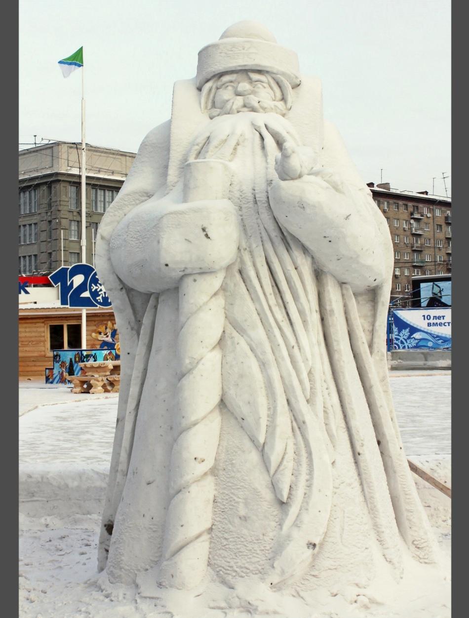 从雪的圣诞老人成熟的图的照片,例3