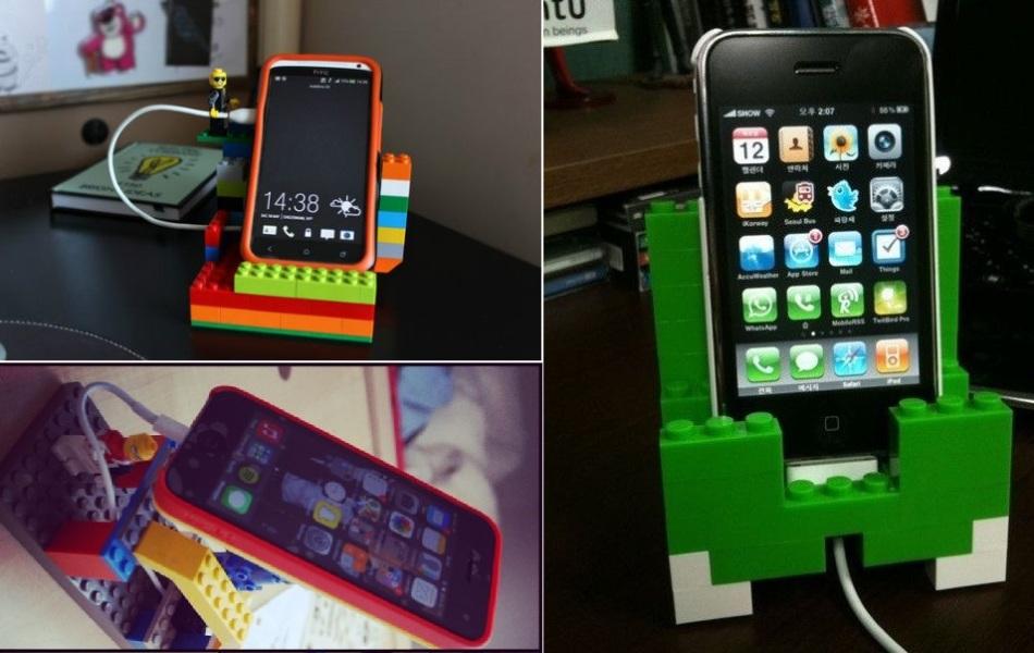 หากคุณไม่มีขาตั้งสำหรับโทรศัพท์ของคุณ แต่มีลูกคุณจะทำมาจากเลโก้นักออกแบบอย่างแน่นอน