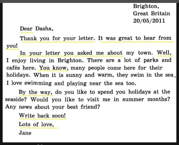 O scrisoare in engleza despre familia mea