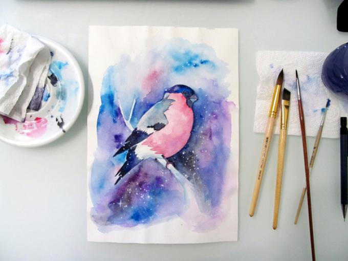 Hvordan tegne bulk akvarell
