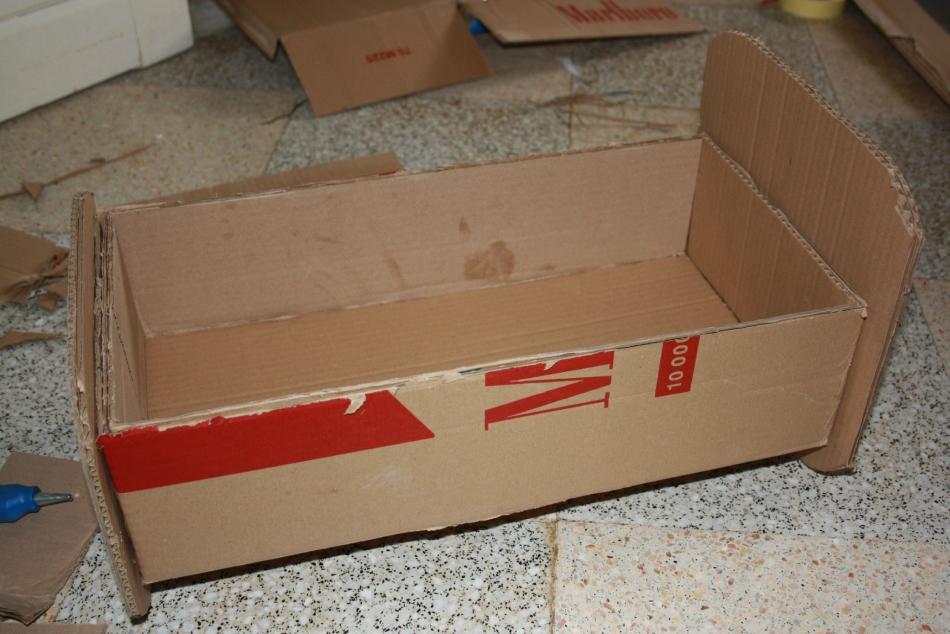 Заготовка для кровати из картона