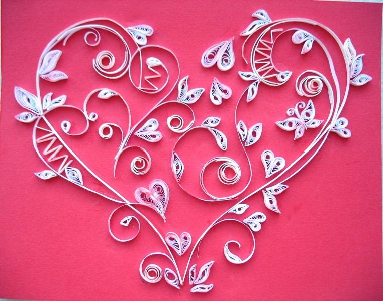 Быть, как сделать открытку из сердец