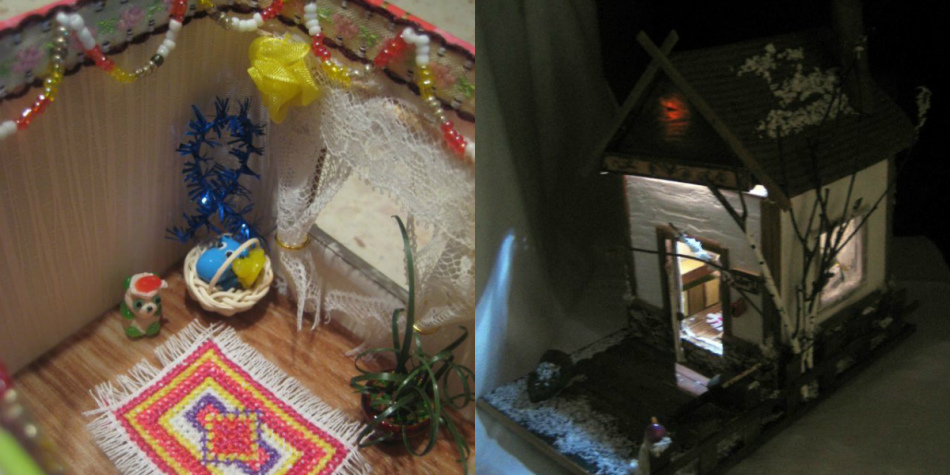 ineresnii-kukolnii-dom-iz-kartona-s-podsvetkoi Чего сделать кукольный дом. Кукольный домик своими руками: инструкции и советы по созданию. Чтобы сделать детский домик своими руками, нужно