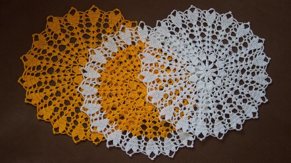 Enkla och vackra virkade servetter