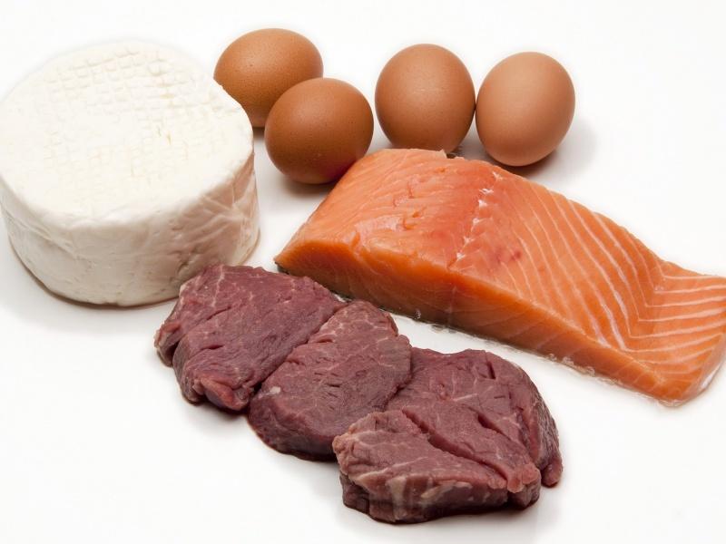Protein-Diät monatliches Menü