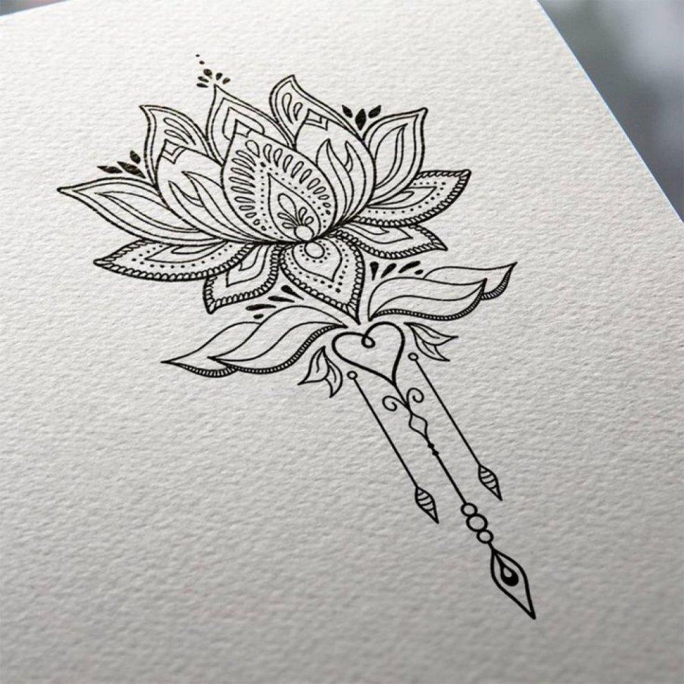 цветок лотоса татуировки для девушек значение места нанесения