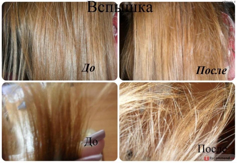 Результат осветления волос корицей с медом