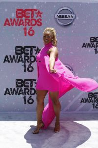 Claire-Sulmers-BET-Awards-MyChael-Knight-dress-Guiseppe-Zanotti-Heels-667x1000