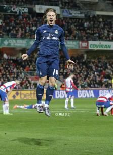 Modric celebration
