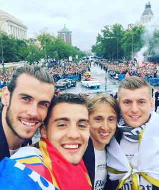 Bale, Kovacic, Modric, Kroos