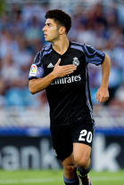 Asensio pats his chest