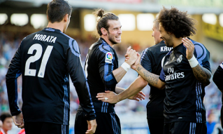 Gareth and Marcelo grins