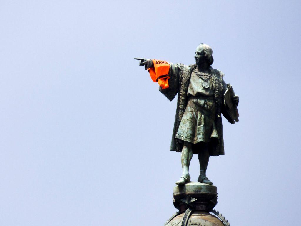 posąg Krzysztofa Kolumba w Barcelonie