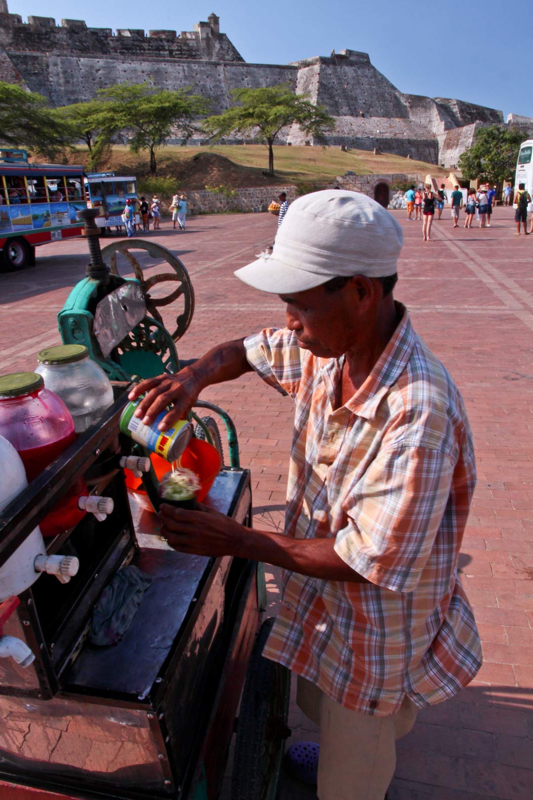 Shave Ice Vendor Cartagena Colombia