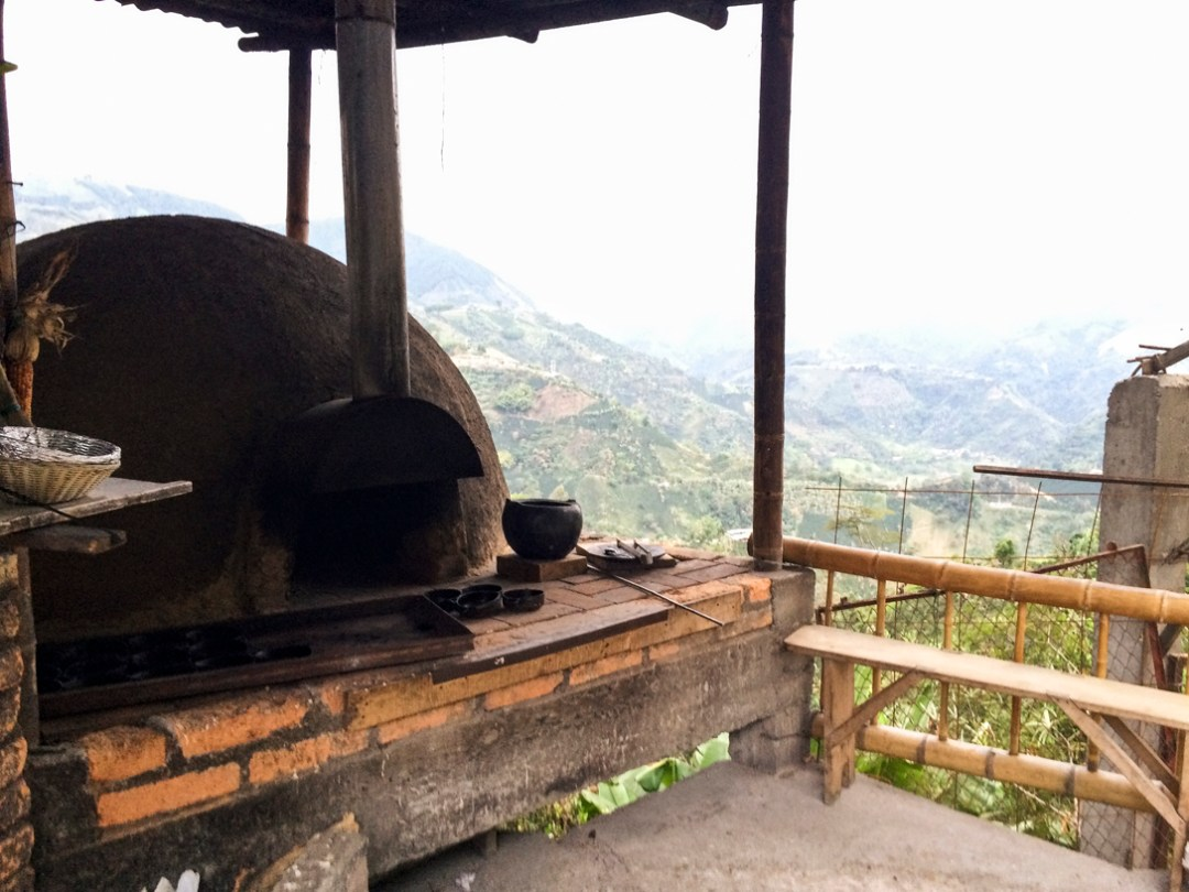 Arepa Oven on the side of a mountain