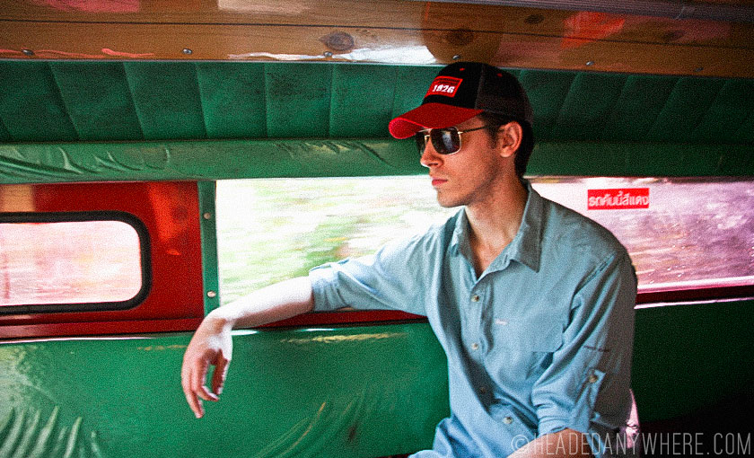 Riding a Songthaew in Chiang Mai