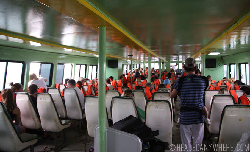 Ferry ride to Koh Phi Phi