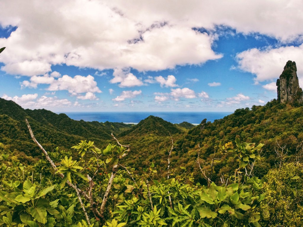 View of Rarotonga from the cross-island hike