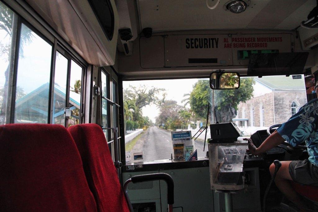 Bus ride on Rarotonga Cook Islands