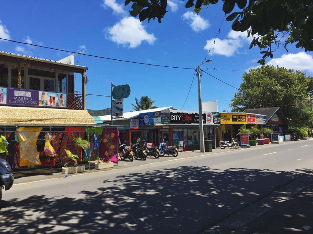 Main shops in Averea, Rarotonga in the Cook Islands