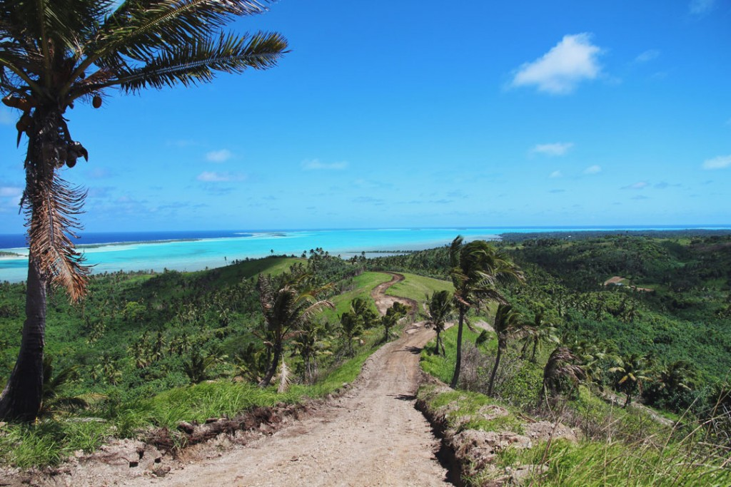 Aitutaki Lagoon from the view point in Aitutaki Cook Islands
