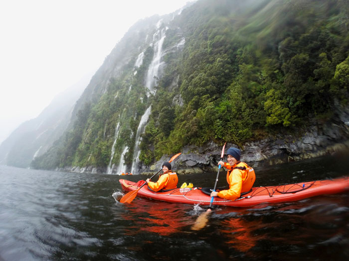 Kayaking Milford Sound New Zealand Road Trip