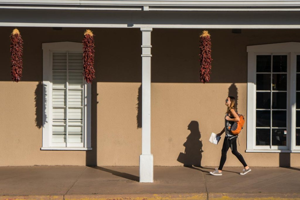 Walking around Santa Fe New Mexico