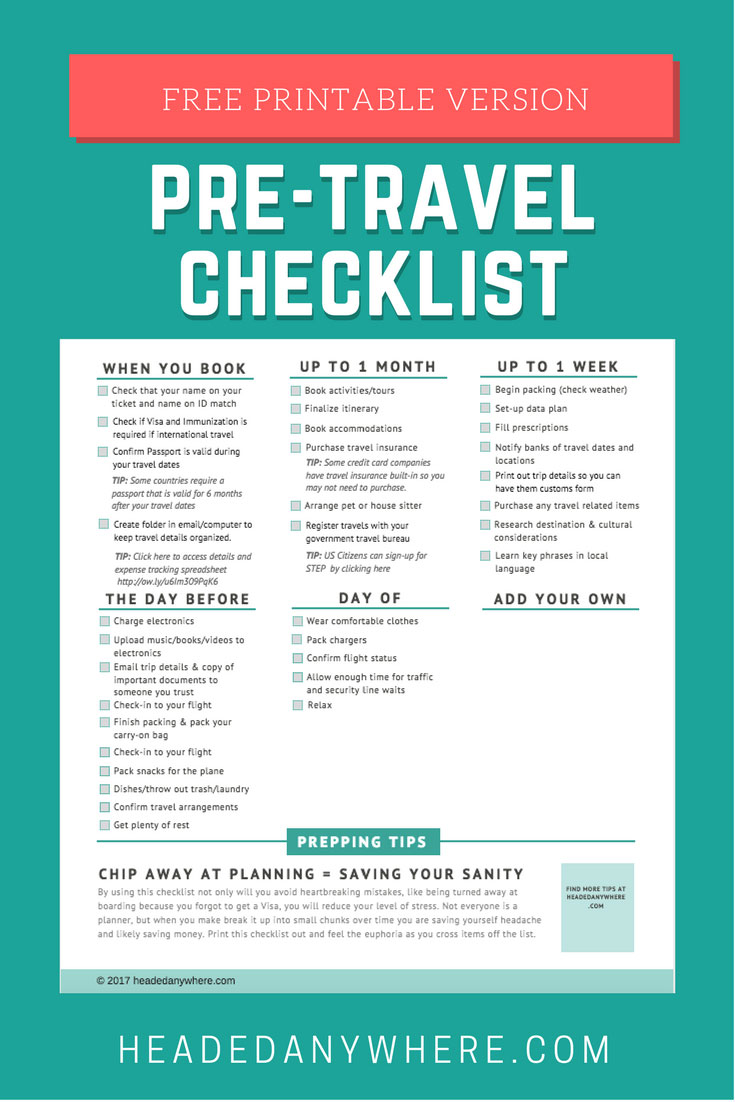 This is an image of Bewitching Vacation Checklists Printable
