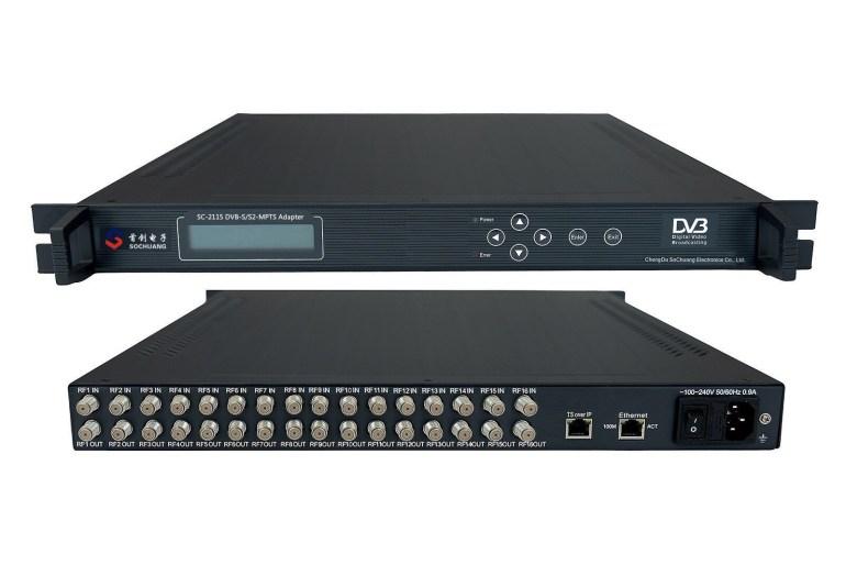SC-2115 16*DVB-S/S2 MPTS IP Gateway with MUX
