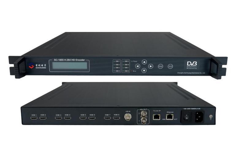 SC-1855 HD H.264 8×HDMI Encoder(