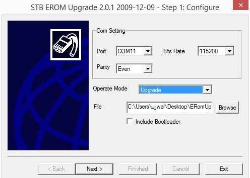 step 1 stb release upgrade software pc