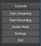 obs studio controls