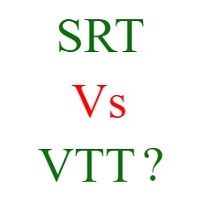 Difference Between SRT VTT