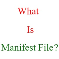 what is a manifest file