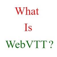 what is webvtt