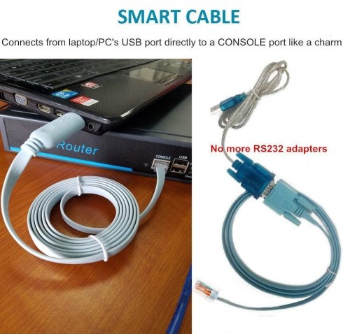 ftdi usb to lan console cable for switch and router configuration