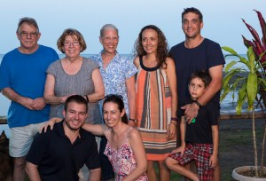 Max and Cecilie Benjamine, Michele, Nancy & Harry Brock and son, Cheyne and Ema. This is family!