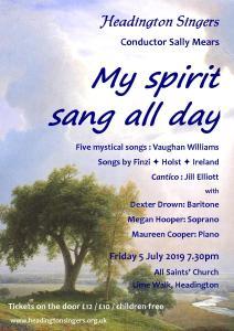 My spirit sang all day poster