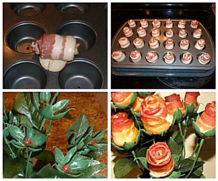 Лучшие цветы — из бекона: пошаговая инструкция по составлению вкусного букета