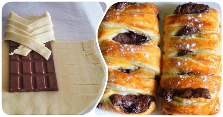 Новая жизнь любимого шоколада в слоеной обертке: необычный десерт из 3 ингредиентов за 15 минут