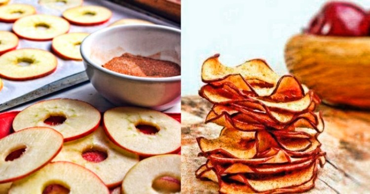 Домашние чипсы из яблок: грех и сравнивать с химическими картофельными в супермаркете