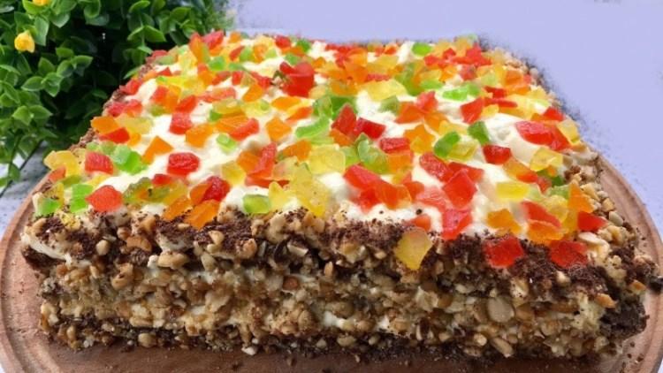 Вкусный тортик без масла и муки: нежнейшее и почти диетическое лакомство