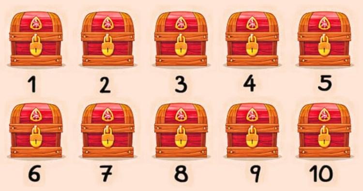 Проверяем интуицию дома: достаточно угадать, в каких 3 сундуках спрятаны сокровища
